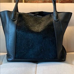 ♣️Botkier Black Fur and Leather Bag♣️